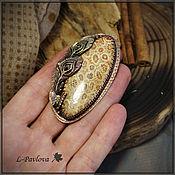 """Украшения handmade. Livemaster - original item Кольцо  """"Цветы пустыни"""" медное с кораллом. Handmade."""