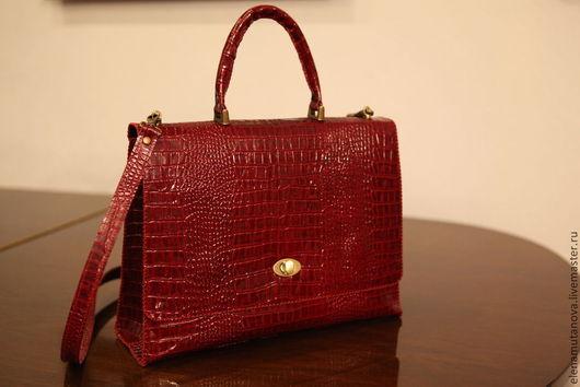 Женские сумки ручной работы. Ярмарка Мастеров - ручная работа. Купить Красная лаковая сумка. Handmade. Бордовый, нарядная сумочка