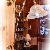 Настенная лампа, светильник из бронзы. OMI, Германия.