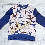Одежда handmade. Livemaster - original item Sweatshirt Planes. Handmade.