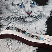 Украшения handmade. Livemaster - original item Blue eye bracelet copyright jewelry from natural stones. Handmade.