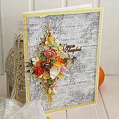 Свадебный салон ручной работы. Ярмарка Мастеров - ручная работа Свадебная открытка.. Handmade.