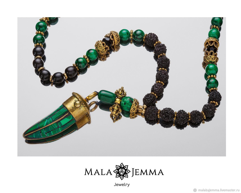 Black Malachite Beads, Beads2, Magnitogorsk,  Фото №1