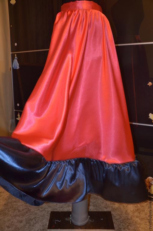 Танцевальные костюмы ручной работы. Ярмарка Мастеров - ручная работа. Купить Цыганская юбка. Handmade. Ярко-красный, Цыганский костюм