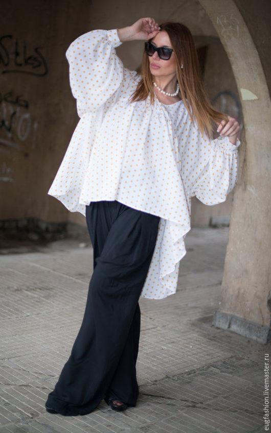 Блузка. Модная блузка. Блузка в горошек. Ярмарка Мастеров - ручная работа.