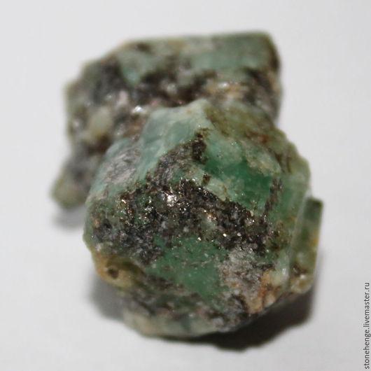 Для украшений ручной работы. Ярмарка Мастеров - ручная работа. Купить Зеленый Берилл, сросток кристаллов, коллекционный минерал. Handmade.