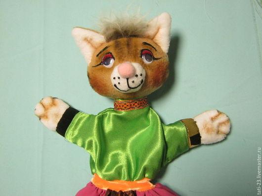 Кукольный театр ручной работы. Ярмарка Мастеров - ручная работа. Купить Кошка..Перчаточная кукла.. Handmade. Театральная кукла, флис