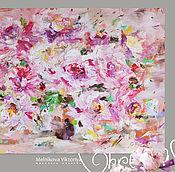 Картины и панно ручной работы. Ярмарка Мастеров - ручная работа Картина маслом «Пионы в солнечном разливе» 70/90см. Handmade.