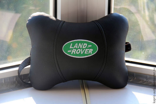 Автомобильные ручной работы. Ярмарка Мастеров - ручная работа. Купить Автоподушка для шеи Land rover .Натуральная кожа. Handmade. Черный