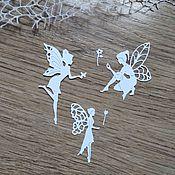 Материалы для творчества handmade. Livemaster - original item !Cutting scrapbooking Fairies, set of 3 fairies. Handmade.