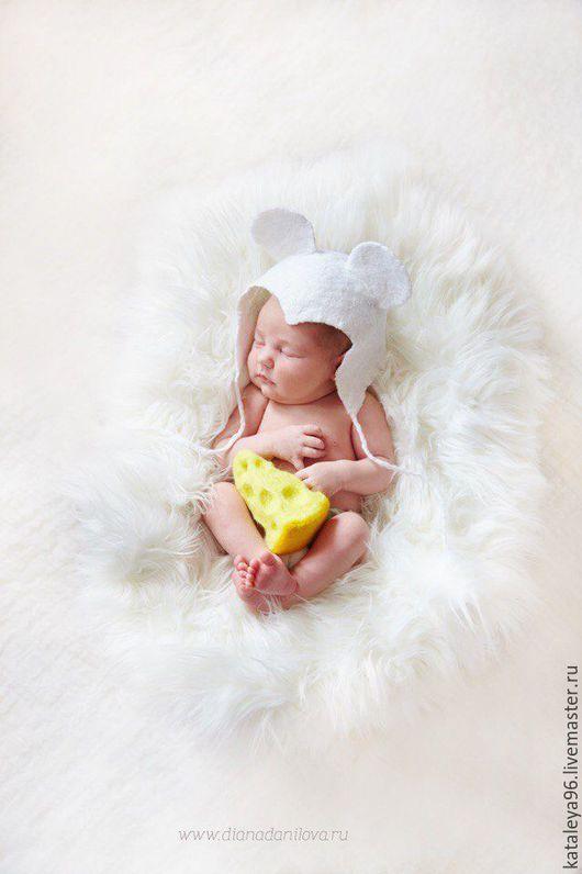 """Для новорожденных, ручной работы. Ярмарка Мастеров - ручная работа. Купить Комплект для фотосессии """"Мышка и Сыр"""". Handmade. Комбинированный"""