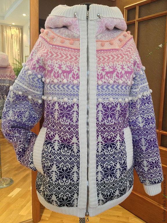 Winter knitted jacket 'Zimushka', Outerwear Jackets, Ekaterinburg,  Фото №1