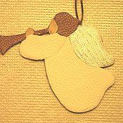 Подарки к праздникам ручной работы. Ярмарка Мастеров - ручная работа Ангел кожаный Рождественский. Handmade.