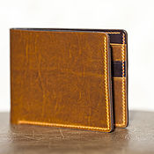 Сумки и аксессуары handmade. Livemaster - original item Horween Chromexcel Leather Bifold Wallet + lining. Handmade.