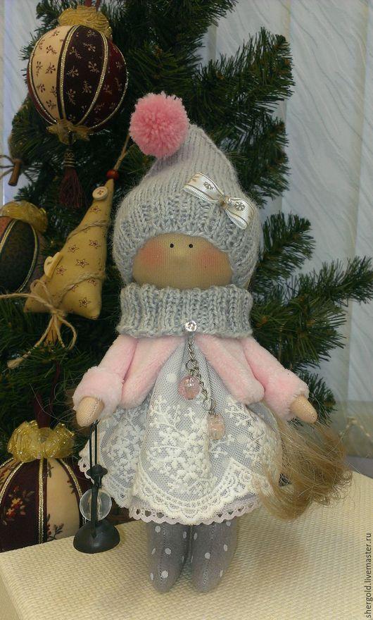Коллекционные куклы ручной работы. Ярмарка Мастеров - ручная работа. Купить Гномочка новогодняя. Handmade. Розовый, кукла интерьерная, подарок