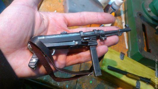 Оружие ручной работы. Ярмарка Мастеров - ручная работа. Купить mp40. Handmade. Черный, миниатюрное оружие