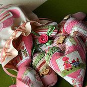 """Для дома и интерьера ручной работы. Ярмарка Мастеров - ручная работа Набор валентинок """"в розовых тонах"""". Handmade."""