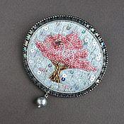 Украшения handmade. Livemaster - original item Brooch BLOSSOMING tree kanitel, swarovski, sequins, pearls, beads. Handmade.