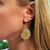 Украшения handmade. Livemaster - original item Earrings with Ammonites. Handmade.