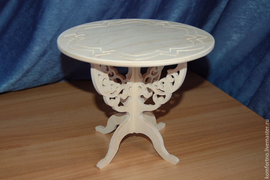 Puppet table.Blank for decoupage and painting.193