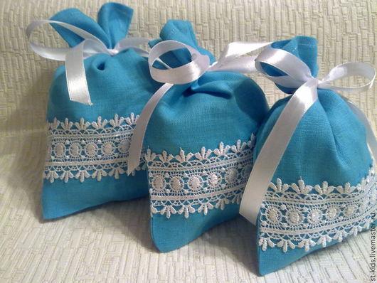 """Кухня ручной работы. Ярмарка Мастеров - ручная работа. Купить Мешочки""""Голубой  бисер"""". Handmade. Бирюзовый, подарок на новый год, упаковка подарочная"""
