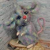 Stuffed Toys handmade. Livemaster - original item Rainbow mouse. Handmade.