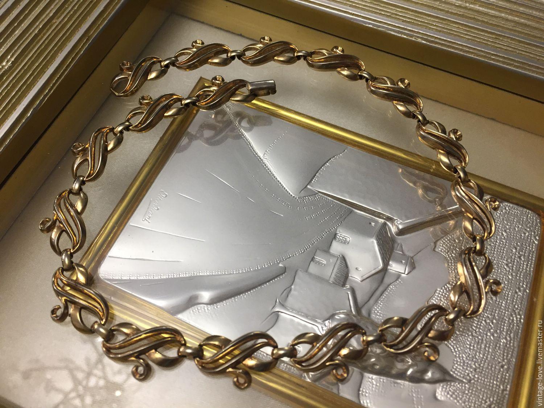 Винтаж: TRIFARI PAT PEND Винтажное колье, США!, Колье винтажные, Владивосток,  Фото №1