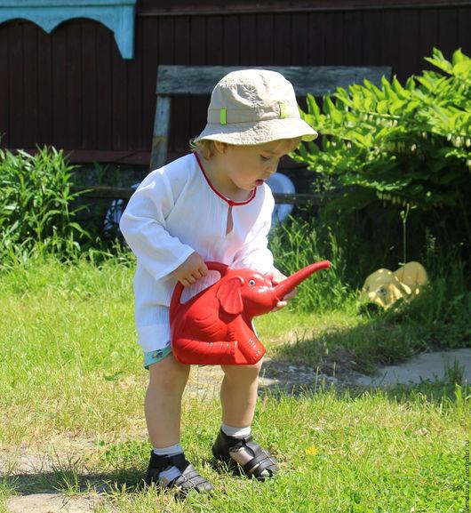 Одежда унисекс ручной работы. Ярмарка Мастеров - ручная работа. Купить Туника летняя детская. Handmade. Белый, туника легкая
