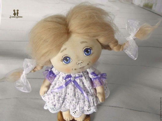 Коллекционные куклы ручной работы. Ярмарка Мастеров - ручная работа. Купить Ангелочек для Елены.Текстильная авторская интерьерная кукла. Handmade.