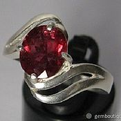Украшения handmade. Livemaster - original item Tourmaline 2.05 red to the natures. & ring silver 925 PR. Handmade.