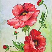 Картины и панно ручной работы. Ярмарка Мастеров - ручная работа Цветы акварелью. Handmade.