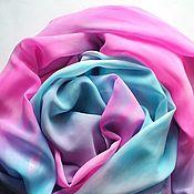 Аксессуары ручной работы. Ярмарка Мастеров - ручная работа Палантин-шарф Необыкновенная шелковый. Handmade.