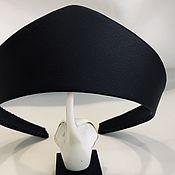 Русский стиль handmade. Livemaster - original item Kokoshnik Black NIGHT made of matte eco-leather. Handmade.