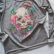 Одежда handmade. Livemaster - original item longsleeve Skull. Handmade.