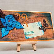 Подарочные конверты ручной работы. Ярмарка Мастеров - ручная работа Конверт для денежного подарка 3. Handmade.