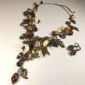 Украшения handmade. Livemaster - original item Bronze Fairy Garden. Necklace, earrings. The jewelry set.. Handmade.