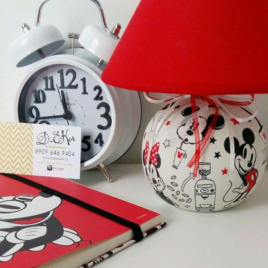"""Освещение ручной работы. Ярмарка Мастеров - ручная работа. Купить Лампа """"Mickey mouse """". Handmade. Лампа декупаж"""