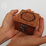 Сундучки ручной работы. Ярмарка Мастеров - ручная работа Шкатулка для колец из массива сосны. Handmade.