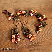 "Украшения handmade. Livemaster - original item Copy of Earrings and bracelet ""Autumn - 2"". Handmade."