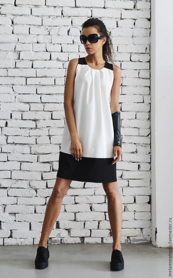 Black and White Short Dress, Dresses, Sofia,  Фото №1