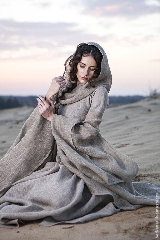 """Платья ручной работы. Ярмарка Мастеров - ручная работа. Купить Средневековое платье в стиле фентези """"Странница"""". Handmade. Серый, рубище"""