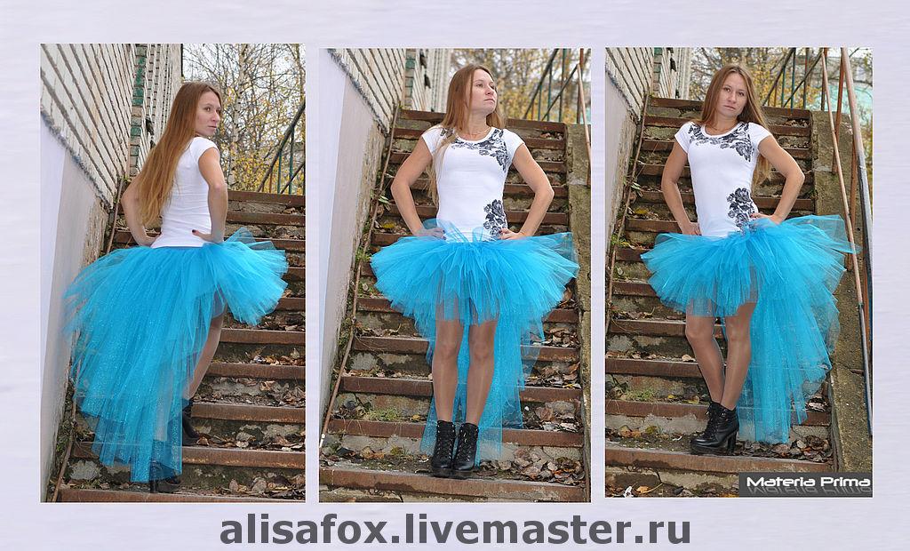 Как сделать юбку с шлейфом фото