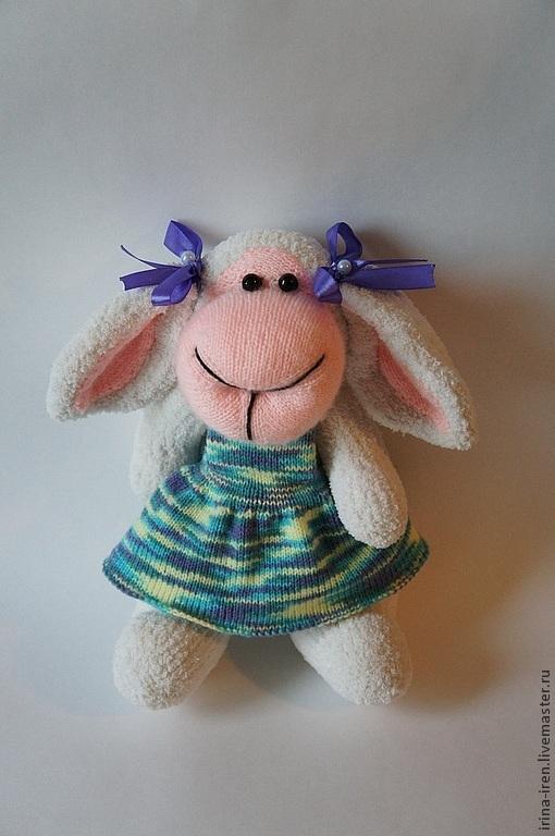 Игрушки животные, ручной работы. Ярмарка Мастеров - ручная работа. Купить овечка Настенька. Handmade. Овечка, игрушка ручной работы