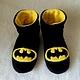 """Обувь ручной работы. Ярмарка Мастеров - ручная работа. Купить Мужские угги """"Бэтмен"""". Handmade. Желтый, детский, оригинальный подарок"""