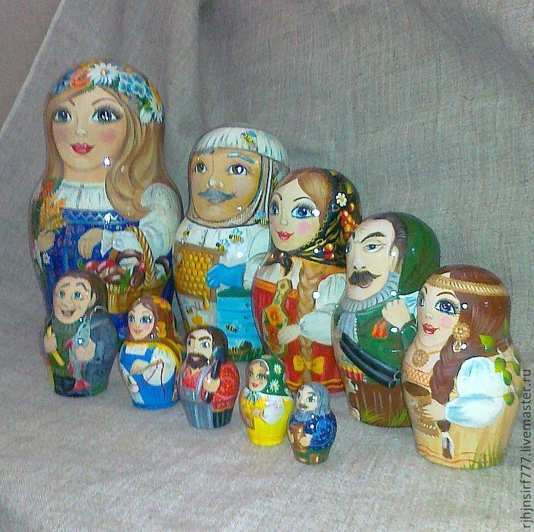 Matryoshka Crafts Of The Altai Republic, Dolls1, Zmeinogorsk,  Фото №1