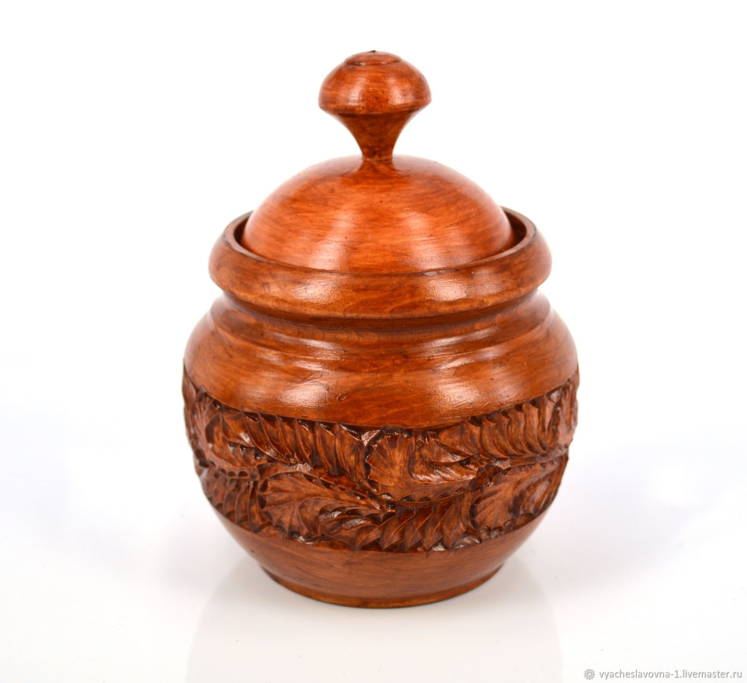 Jar-pot made of carved wood, ' Royal', Jars, Moscow,  Фото №1