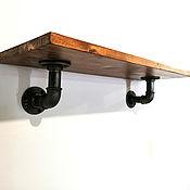 Для дома и интерьера handmade. Livemaster - original item Industrial style wall shelf made of wood and pipes.. Handmade.