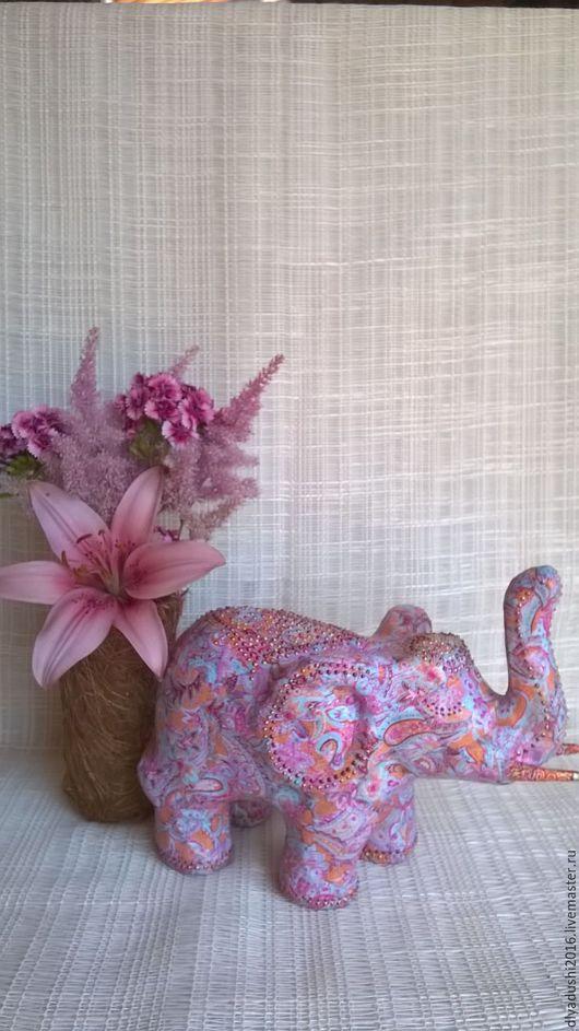 Статуэтки ручной работы. Ярмарка Мастеров - ручная работа. Купить Интерьерный индийский слон. Handmade. Индийский стиль, подарок