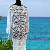 Одежда handmade. Livemaster - original item Crocheted white dress.. Handmade.
