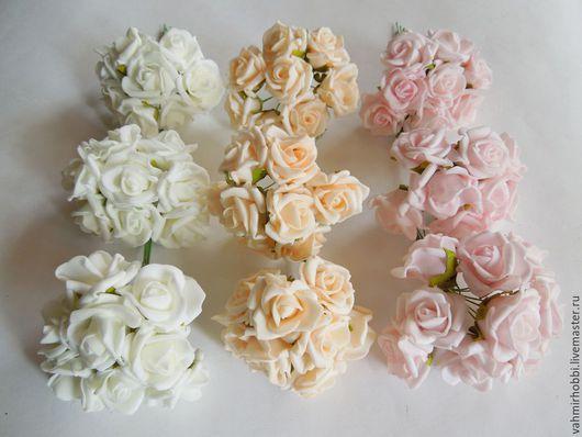 Другие виды рукоделия ручной работы. Ярмарка Мастеров - ручная работа. Купить цв 003 Розы латекс 2.5см - 8 шт. Handmade.